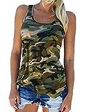 Auxo Damen Tank Tops Ärmellos Weste Sommer Slim Vest Party Club T Shirt Oberteil EU 42/Etikettgröße XL