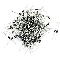 200Pcs 2,5 milímetros x 5 mm axial do cilindro de chumbo Rectifier diodo 1200V 1A IN4007