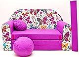 Pro Cosmo M33 - Sofá cama para niños con puf, reposapiés