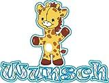 Türschild Giraffe - Motiv 2 - Mit Wunschnamen - Namensschild Schild...