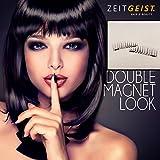 Doppel Magnetische Wimpern für das ganze Auge, Zwei Magnet Wimpern, Lange Wimpern, Kompletter Wimpernkranz - Natural