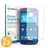 smartect Panzerglas kompatibel mit Samsung Galaxy S3 / S3 NEO Folie [2 Stück] - Displayschutz mit 9H Härte - Blasenfreie Schutzfolie - Anti Fingerprint Panzerglasfolie
