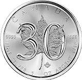 1 Unze oz Silber Maple Leaf 2018 Jubiläumsausgabe 30 Jahre bei uns einzeln in Münzkapseln verpackt