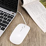 Ultra Thin White USB 1600DPI Wired Optical Scroll WheelGaming Gamer Mouse Computer Mice 4 For Apple For MacBook For MAC Laptop PC Notebook
