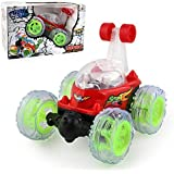 "Stunt Rc Car,360ã'â Spinning And Flips With Color Flash & Music,gbell Remote Control Truck,Best Birthday Christmas Gift For Kids,5.4ã —4.8ã —4.35"" (red)"