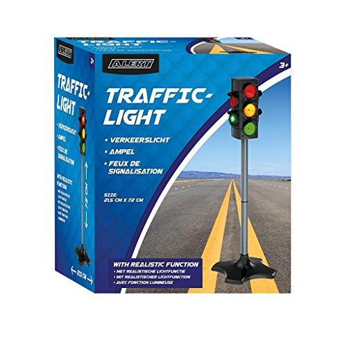 (Batteriebetriebene Verkehrsampel mit Funktion. Mit manuellem oder automatischem Ampelzyklus. Ampel für Kinder / Verkehrserziehung)