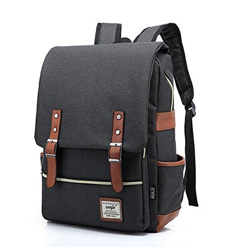 TININNA Vintage Unisex Zaino Backpack Satchel Daypack Sacchetto di Scuola Schoolbag Chiaro Verde