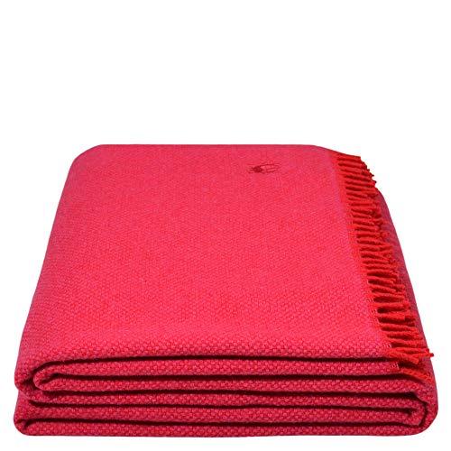 Must Relax-Decke - Wolldecke - hochwertiges Plaid aus reiner Schurwolle mit Fransen - 130x190 cm - 331 wild blossom - von 'zoeppritz since 1828' -