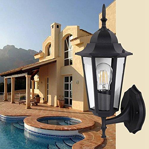 Wand Lampe Moderne Wall Light Balkon Wandleuchte Leuchten Glas Wandleuchte Durchmesser 20Cm E27 Wandleuchte Outdoor -