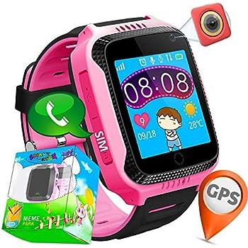 Niños Inteligente Relojes,GPS Tracker para Niños con cámara de Podómetro con Pantalla Táctil Llamadas