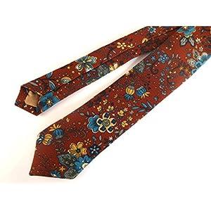 Braune Blumen Krawatte