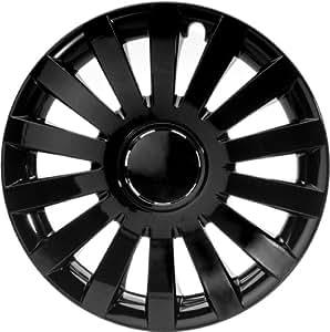 """ALBRECHT automotive 49267 Enjoliveurs Universels Wind 17 """" pouces, Pack de 4, Noir Plus"""