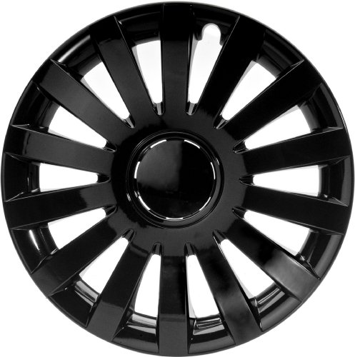 ALBRECHT automotive 49263 Copricerchi Wind 13' pollici, 1 Set da 4 Pezzi, Nero Plus