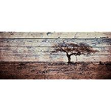 Cuadro madera 140 x 60 cm. Lámina barnizada con efecto palé sobre contrachapado.