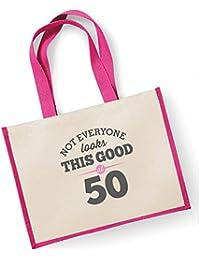 a9df37458fb33 Damen Tasche mit Aufdruck zum 50. Geburtstag (in englischer Sprache)