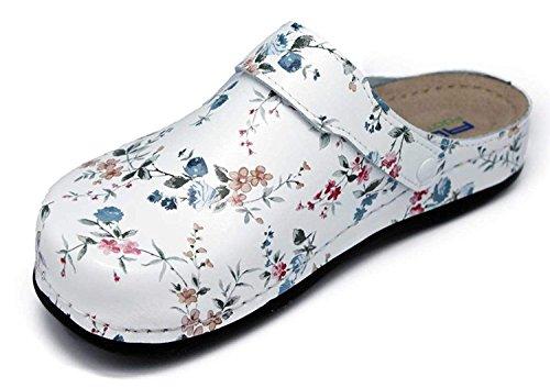 AWC Damen Berufsschuhe Tiefbett, Farbe: Blumen, Größe: