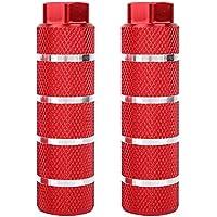 VGEBY 1 par de Soportes de lanzacohetes de Pedal Trasero de Bicicleta de montaña de aleación de Aluminio Universal de Orificio Grande en pie y Poste de Pedal(Rojo)