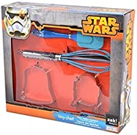 Make intergalactic cookies sure to please any fan!;Durable stainless steel construction;Includes: 1 Whisk, 1 Spatula and 1 Darth Vadar Cookie Cutter & 1 R2-D2 Cookie Cutter;Dishwasher safe;Great activity for a play date or birthday party ...