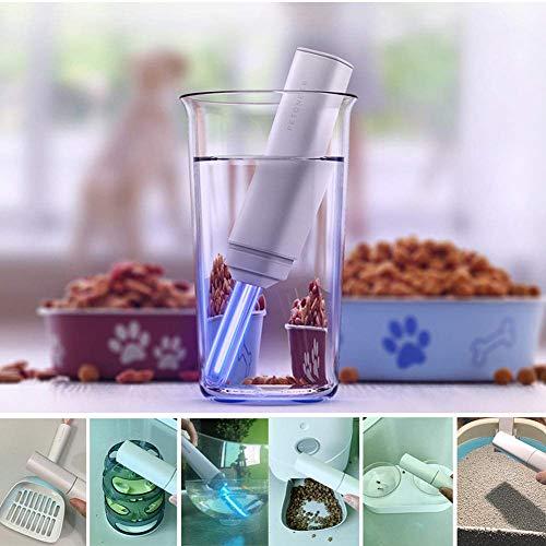 Jeromkewin Uvc Sterilisation Lampe für Haustier Tragbar Desinfizieren Licht Ultraviolet Lampe für Katze Hund Auto Haushalt Kleiderschrank Toilette Keimtötend Licht -