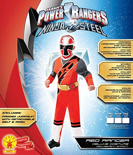 Rubie's Official Power Rangers, Ninja Steel Costume - Red