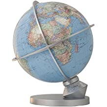 T203482 Columbus DUO Planet Erde: DUO Kartenbild, handkaschiert, Metallhaube aus Edelstahl, beleuchtet physisch, unbeleuchtet politisch, Durchmesser ... Indexmarke zur Tageseinstellung