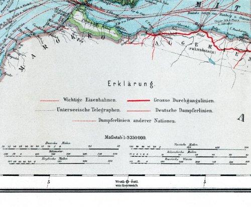 Historsiche Karte: Europa, um 1910 (Plano) (Friedrich Handtke (1815–1879) - Historische Landkarten): Alle Infos bei Amazon