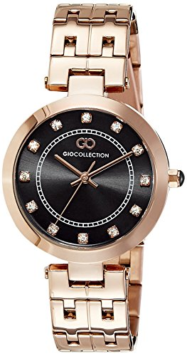 Gio Collection Analog Black Dial Women's Watch - G2016-44 image