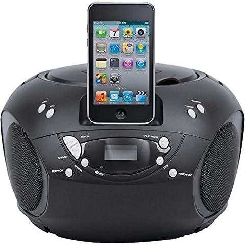 BUSH PORTABLE CD PLAYER BOOMBOX FOR IPOD IPHONE DOCK DOCKING STATION CBB3I BLACK