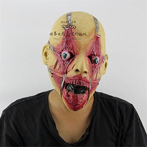 SQCOOL Halloween Maske Horror Blut Gesicht Big Mund Ghosts Latex Scary Kammer Zombie (Halloween Kostüm Big Und Rob)