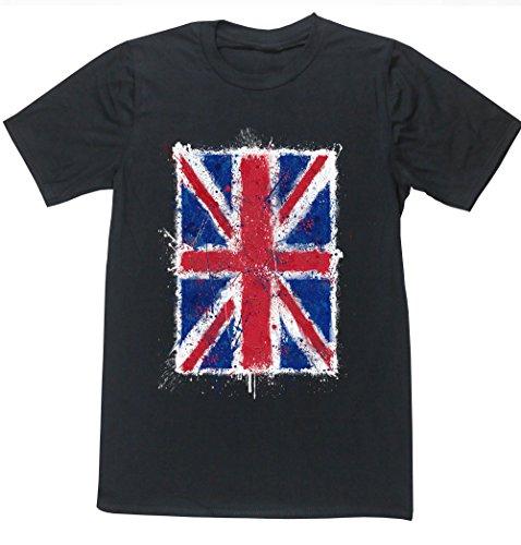 Hippowarehouse Herren T-Shirt, Schwarz, 50026-DTG-UT-BXL (T-shirt Art-union Flag Jack)