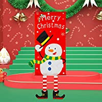JMcall Merry Christmas Ornament Santa Claus Banner Flag Door Window Hanging Xmas Decor(Color:Multicolor & Material:other)