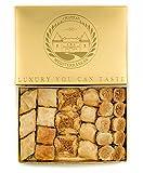 Baklava Baklawa Doux, Bitesize, cuit à la commande, 24 pièces, Chateau de Mediterranean, ruban de boîte de cadeau