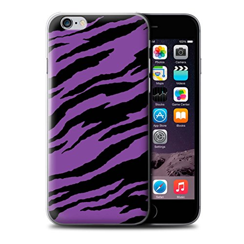 Stuff4 Hülle / Case für Apple iPhone 4/4S / Hübsche Ombre/Funkeln Muster / Lila Mode Kollektion Tiger Druck/Träne