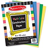 "Melissa & Doug Multi-Color Construction Paper, Multi Color (9""x12"")"