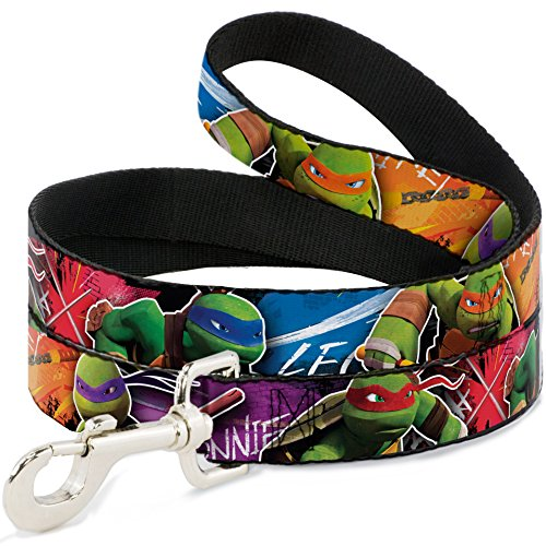 Buckle Down TMNT Neue Serie Charakter Action Pose Close Up Multi Farbe Hund Leine, 4'
