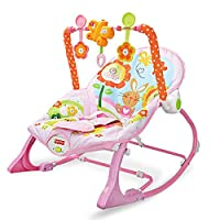 Yunfeng Baby Bouncer Chairs and Rockers Foldable Baby Rocking Chair Swing seat Multifunctional Vibrating Baby Soothing Recliner Baby Toy