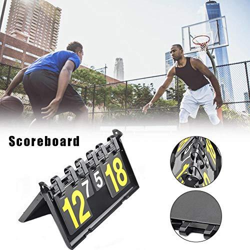 Beaviety Flip Anzeigetafel Basketball Tischtennis Anzeigetafel 4-stellige Kunststoff Anzeigetafel Für Alle Arten Von Sportwettkämpfen