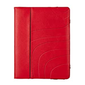 Maroo Candy Red Leather Folio for iPad Air - Striking Red Leather Folio with SG Bumper Technology for Ultimate Protection, Folding Front Cover for Viewing and Typing Angles