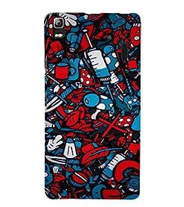EPICCASE Absract Art Case Mobile Back Case Cover For Lenovo A7000 (Designer Case)