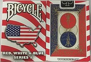 bicyclette rouge blanc et bleu série d'une carte Unis conception de la carte à jouer Bicycle Red White and Blue Series 1 USA Map Design Playing Cards
