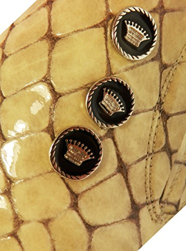 Pablo Picasso – Italienischer Designer Slipper mit Kroko Design handvernäht und Elfenbein Beige Farbe Herren Beige