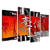 Bild & Kunstdruck der deutschen Marke Visario 130 x 80 cm 6170 Bilder auf Leinwand Kunstdrucke chinesische Zeichen Wandbild