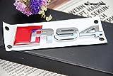 E379 RS 4 Emblem Zeichen Badge auto Mobil aufkleber 3D Schriftzug Plakette Car Sticker