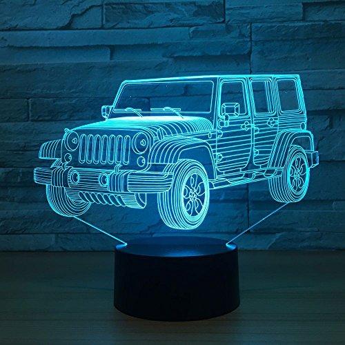 Luce notturna per auto gradiente jeep forma comodino camera da letto lampada da tavolo decorazione d'interni lampada atmosfera regalo di compleanno nuovo regalo