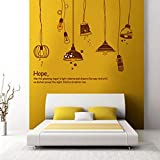 Decals Design 'Crazy Lamps' Wall Sticker...
