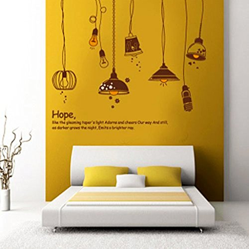 Decals Design 'Crazy Lamps' Wall Sticker (PVC Vinyl, 50 cm x 70 cm)