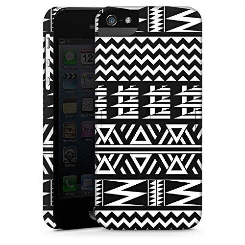 Apple iPhone 5 Housse Étui Silicone Coque Protection Tribal Motif Motif CasStandup blanc