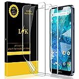 LK Protection écran pour Nokia 7.1 [3 Pièces], Appliqué Humide [Max Coverage] [sans Bulles] Transparent TPU Film Protection écran Nokia 7.1
