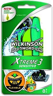 Wilkinson Sword Xtreme 3 Sensitive Rakhyvlar för Engångsbruk, 8 stycken