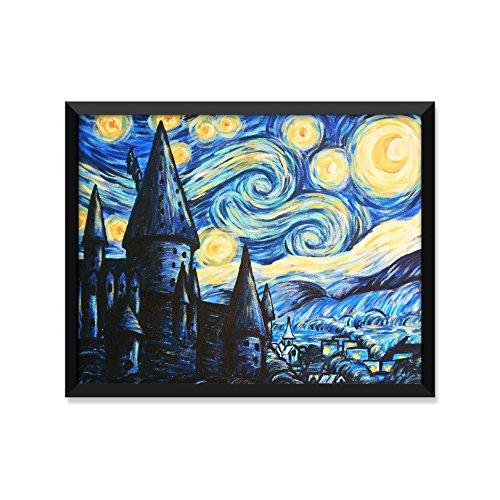 Hogwarts Starry Night Gemälde, Harry Potter Poster, Minimalistische Poster, Home Decor, College Wohnheim Zimmerdekoration, Wand-Kunst 8x10 Art Print ()
